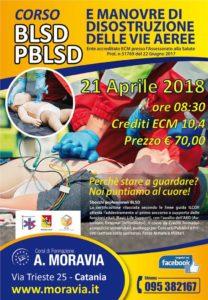 21/04/2018 – Corso BLSD – PBLSD e Disostruzione Vie Aeree per Sanitari