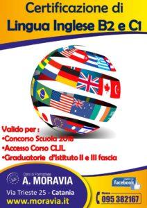 In Programmazione – Certificazione di Lingua Inglese B2 e C1