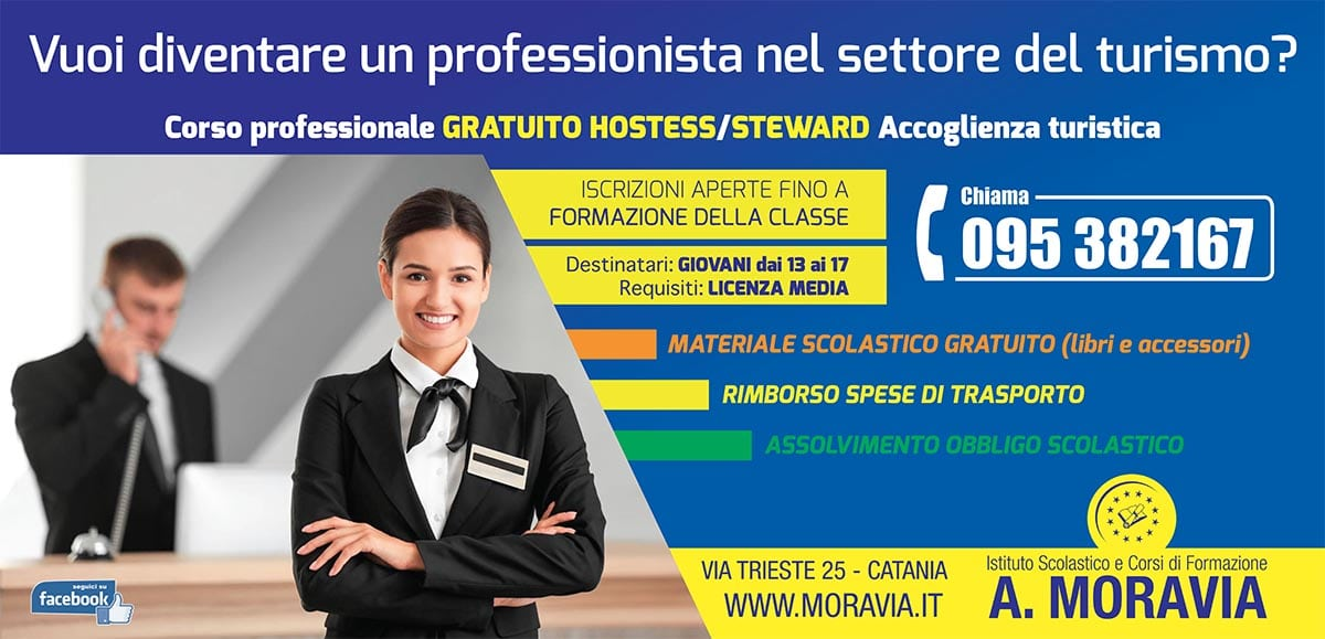 corso professionale hostess steward